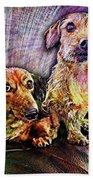 Fur Babies Bath Towel by Barbara Berney