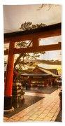 Fushimi Inari Taisha Shrine In Kyoto Bath Towel