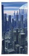 Futuristic City - 3d Render Bath Towel