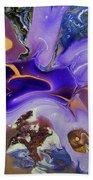 Galactic Portal. Abstract Fluid Acrylic Pour Bath Towel