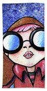Galaxy Goggles Girl Hand Towel