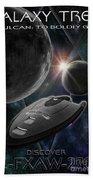 Galaxy Trek  Vulcan To Boldly Go Poster  Starship Bath Towel