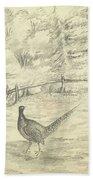 Game Bird By W  Buelow Gould  C 1835  Bath Towel