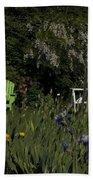 Garden Bench Green Bath Towel