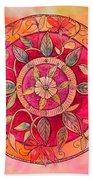 Garden Mandala Bath Towel