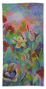Garden Of Intention - Triptych Center Panel Bath Towel
