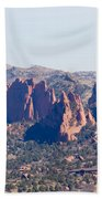 Garden Of The Gods And Colorado Springs Bath Towel