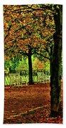 Garden Path, Schloss Biebrich Bath Towel