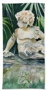 Garden Satyr Bath Towel