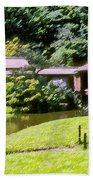 Garden Tea Houses Bath Towel