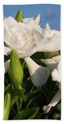 Gardenia Flowers Bath Towel