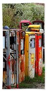 Gas Pump Conga Line In New Mexico Bath Towel