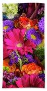 Gathered Garden Flowers Bath Towel