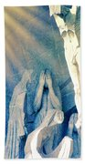 Gaudi Crucifixion Bath Towel