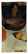Gauguin: Meal, 1891 Bath Towel