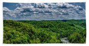 Gauley River Canyon And Clouds Bath Towel