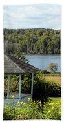 Gazebo And Caribou Lake Bath Towel