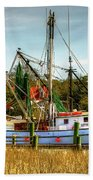 Geechie Seafood Shrimp Boats Bath Towel