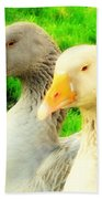 Geese Have Strong Affections For Others In Their Group Hand Towel