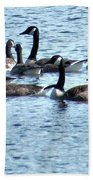 Geese On Lake Nockamixon Bath Towel