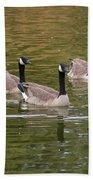 Geese On Pond Bath Towel