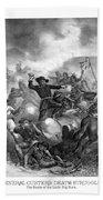 General Custer's Death Struggle  Hand Towel
