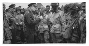 General Eisenhower On D-day  Bath Towel
