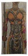 General Okoye Of The Wakandian Elite Forces   Bath Towel