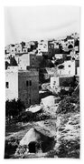 General View Of Bethlehem 1800s Bath Towel