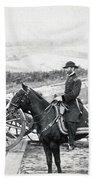 General William T Sherman On Horseback - C 1864 Bath Towel