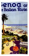 Genoa, Italian Riviera, Coast Bath Towel