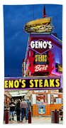 Geno's Steaks South Philly Bath Towel
