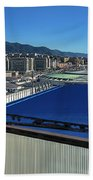 Genova Town Landscape From Abandoned Office Building Roof Hand Towel