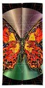 Geometron Fyr Lepidoptera Bath Towel