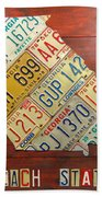 Georgia License Plate Map Hand Towel by Design Turnpike