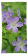 Geraniums Spring Wildflowers Bath Towel