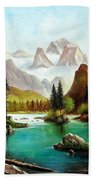 German Alps Bath Towel