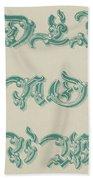 German Arabesque  Bath Towel
