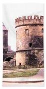 German Gate In Metz 1955 Bath Towel