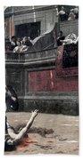 Gerome: Gladiators, 1874 Bath Towel