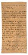 Gettysburg Address Bath Towel