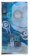 Ghost Birds At Play Bath Towel
