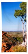 Ghost Gum On Kings Canyon - Northern Territory, Australia Bath Towel