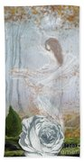 Ghost Of A Rose Hand Towel