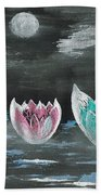 Giant Lilies Upon Misty Waters Bath Towel