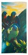 Gimie Dawn 1 - St. Lucia Parrots Bath Towel