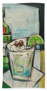 Gin And Tonic Poster Bath Towel