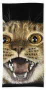 Ginger Cat Eyes Bath Towel