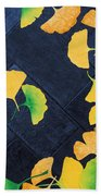 Ginkgo Leaves On Pavement Bath Towel
