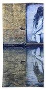 Girl In The Mural Bath Towel